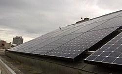 Mise en place de 42 panneaux photovoltaïques 1
